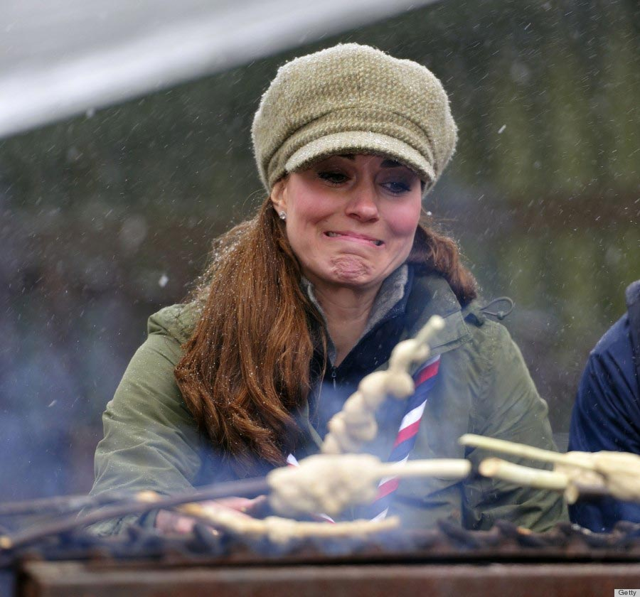 Kate Middleton visits Great Tower Scout camp on March 22, 2013.