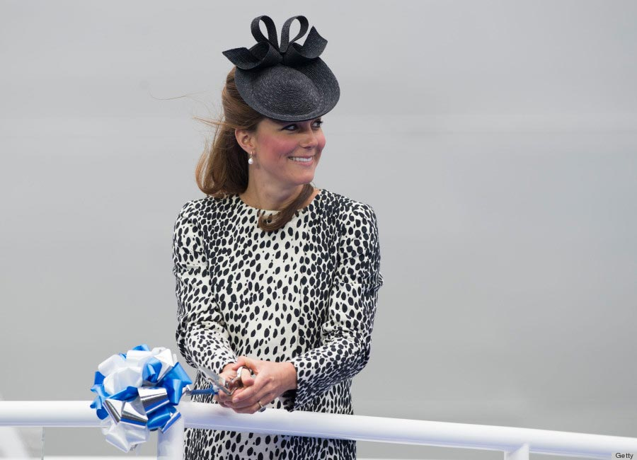 Kate Middleton attends the Princess Cruises ship naming ceremony on June 13, 2013.