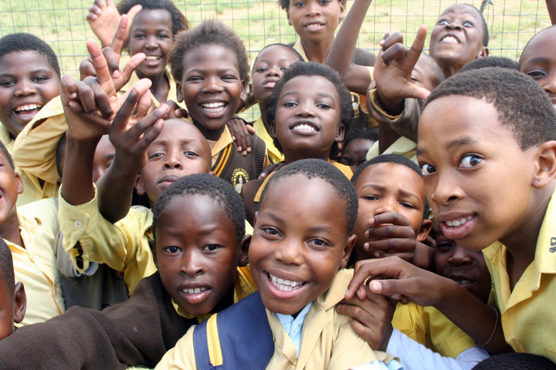 Nigerian school pupils