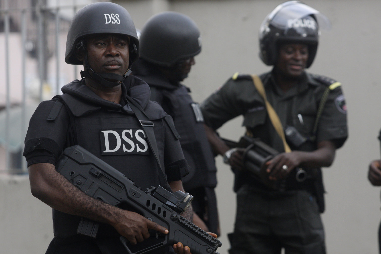 FILE: Officers of the Department Of State Security Services (DSS), Nigeria's Secret Police