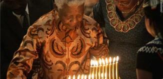 Anti-apartheid icon and Nobel peace laureate Nelson Mandela