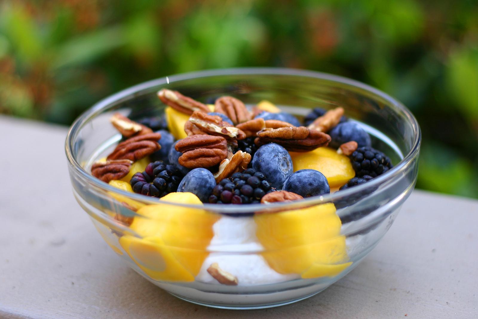 dragon eye fruit healthy fruit dip with yogurt