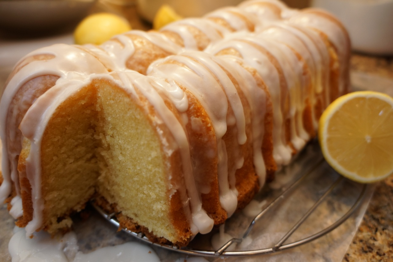 Cream Cheese Lemon Pound Cake With Lemon Glaze