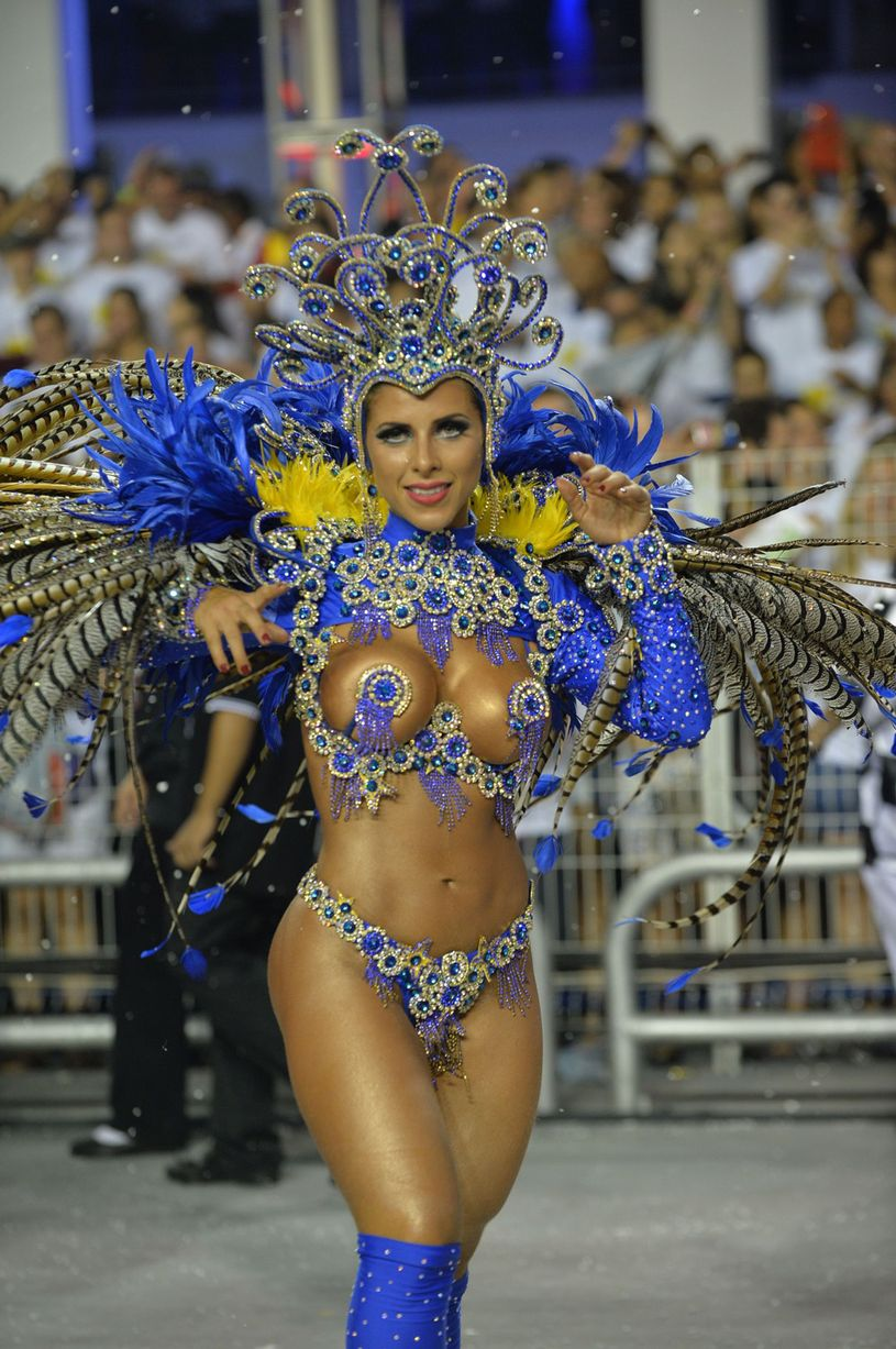 The Gavioes da Fiel samba school's theme for this year's carnival is an homage to Brazilian former football star Ronaldo (Photo Credit: Daily Mirror)