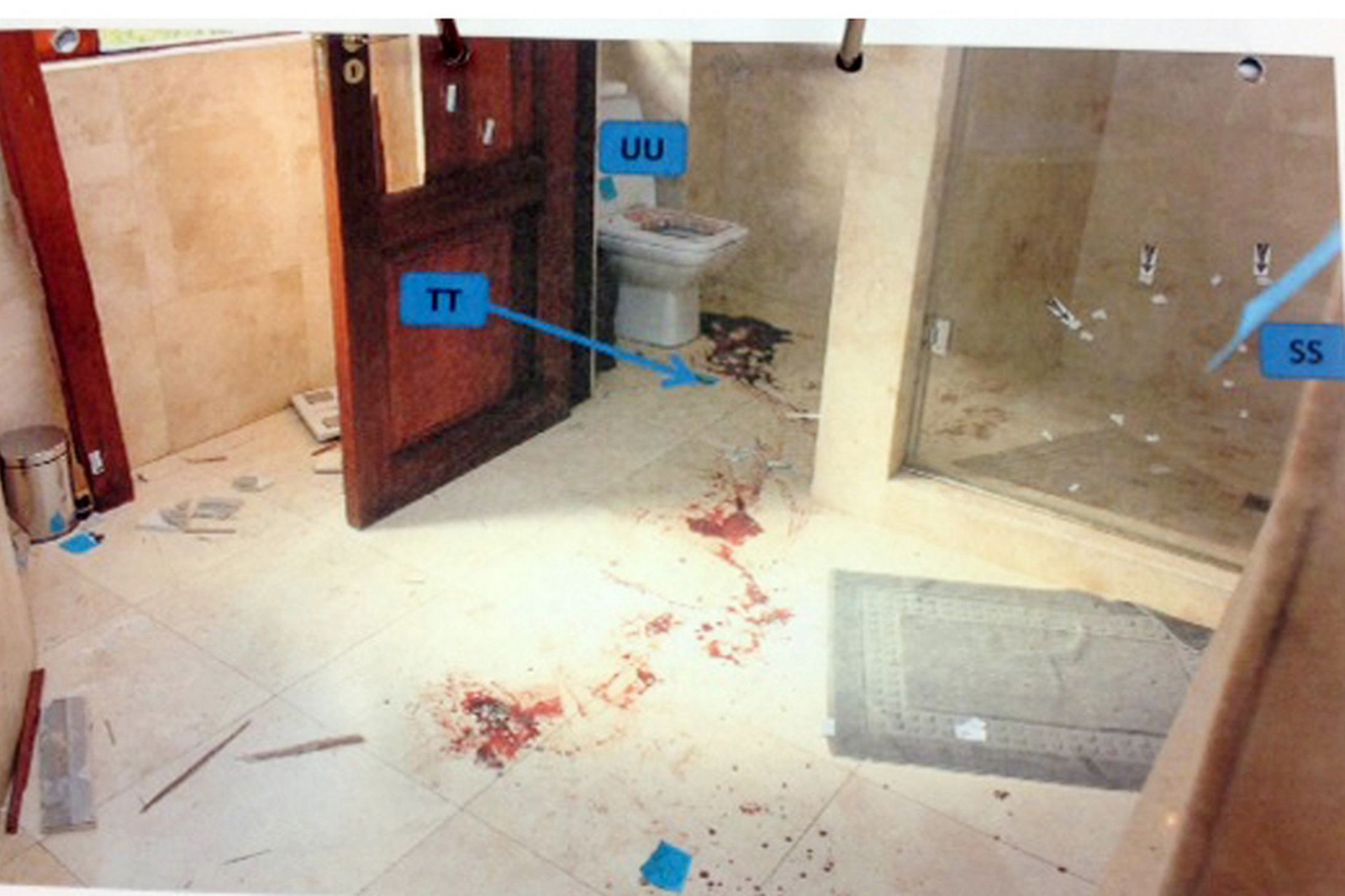 The Smell Death Hung Door Taste Blood Police Photographer Reveals Gruesome Crime Scene Haunts Two Years Oscar Pistorius Shot Reeva Steenk as well Oscar Pistorius Never Go Jail 4243792 in addition Oscar Pistorius Appeal Court Rules Athlete Guilty Reeva Steenk  Murder 1531605 additionally Oscar Pistorius Third Anniversary Of Reeva Steenk s Death And A Movie together with The Question Of Why Oscar Pistorius Killed Reeva Steenk  Is Still A Mystery Open To Endless Interpretation. on oscar pistorius case bathroom door