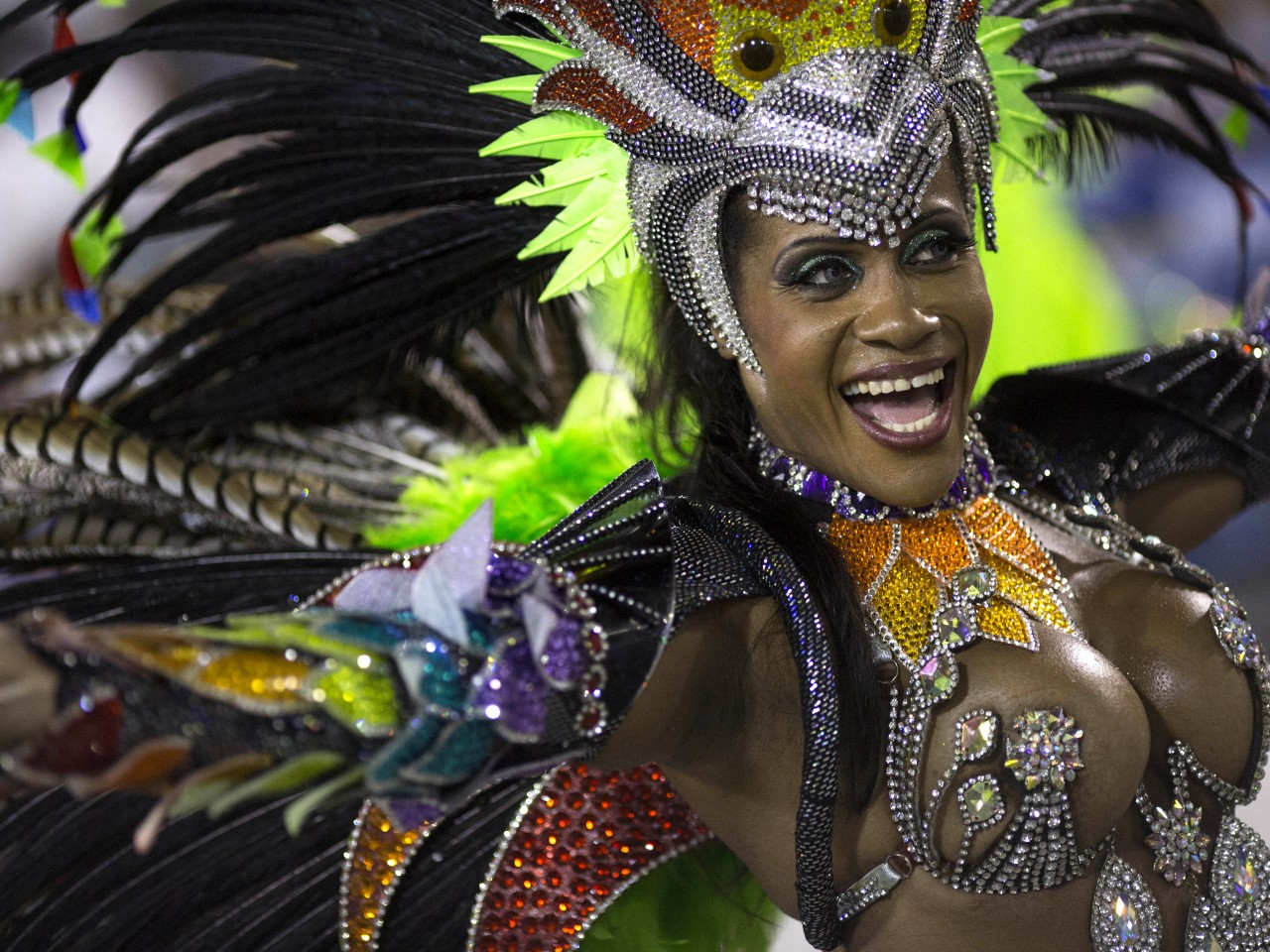 women Nude at carnival brazilian