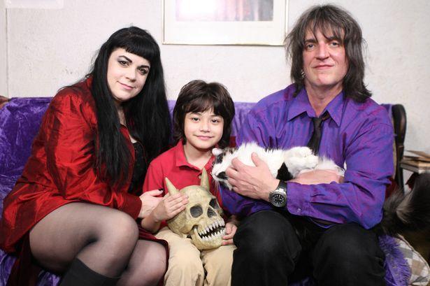 Julia Caples with her son Alexei Lazarowicz, and ex husband Donald Lazarowicz (Photo Credit: Barcroft Media)