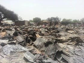 Ngala massive destruction by Boko Haram