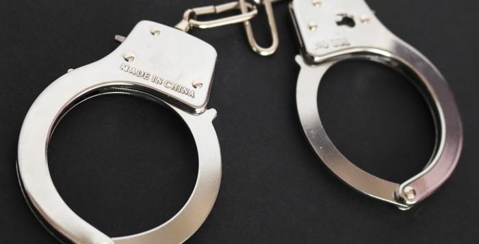 handcuff arrested woman