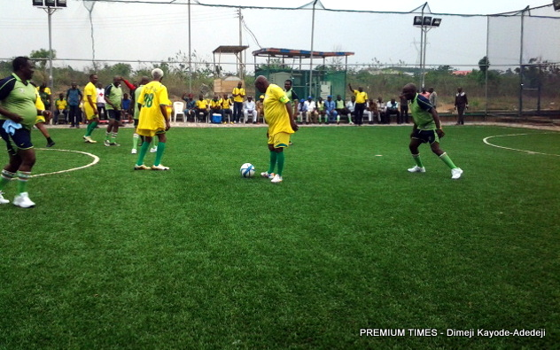 Photos Of Former President Obasanjo Playing Football With ...