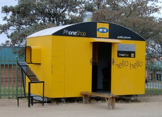 MTN Mobile stand in South Africa