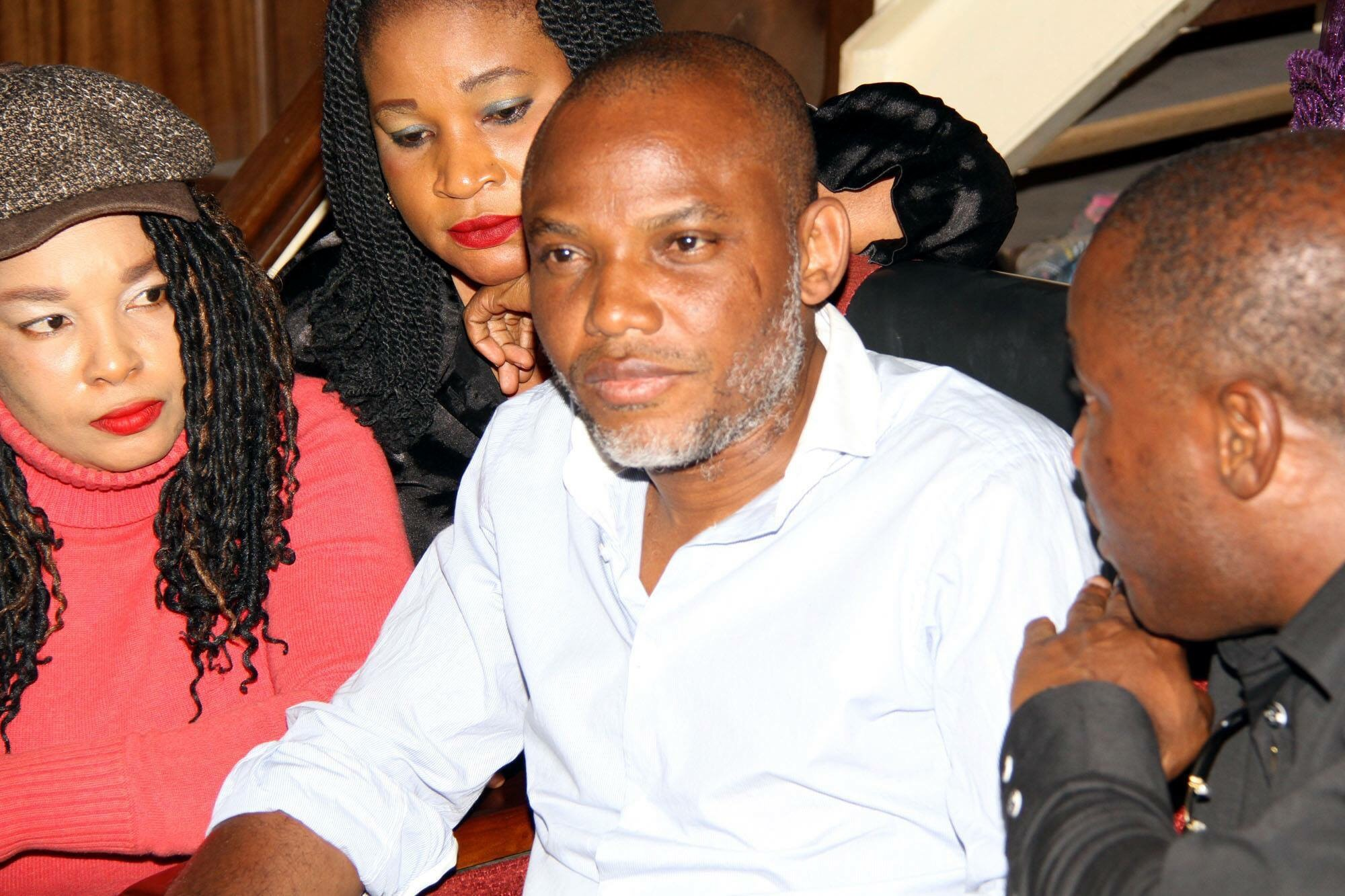 Indigineous People of Biafra (IPOB) leader, Nnamdi Kanu appears in court on Wednesday, December 22, 2015 | Facebook