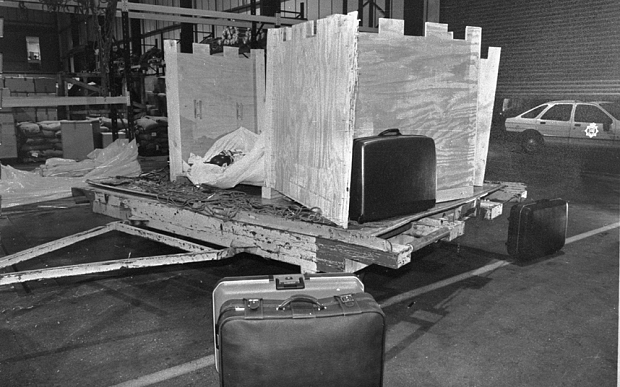 The crate in which Umaru Dikko was kidnapped in | Paul Armiger/The Telegraph