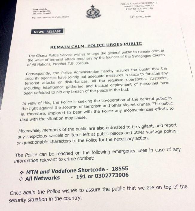 Ghana police letter the trent ghana police letter stopboris Images