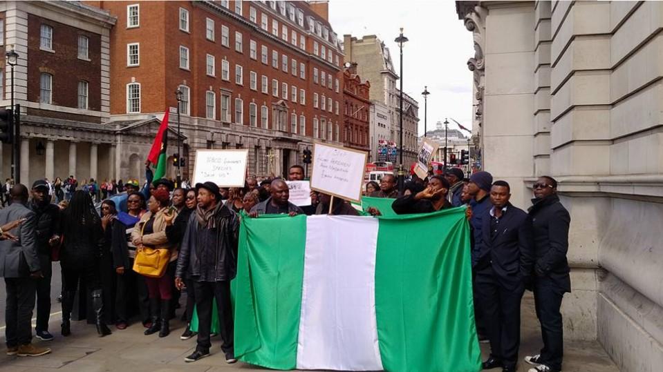 Image result for Nigerians in London protest over Fulani herdsmen killings