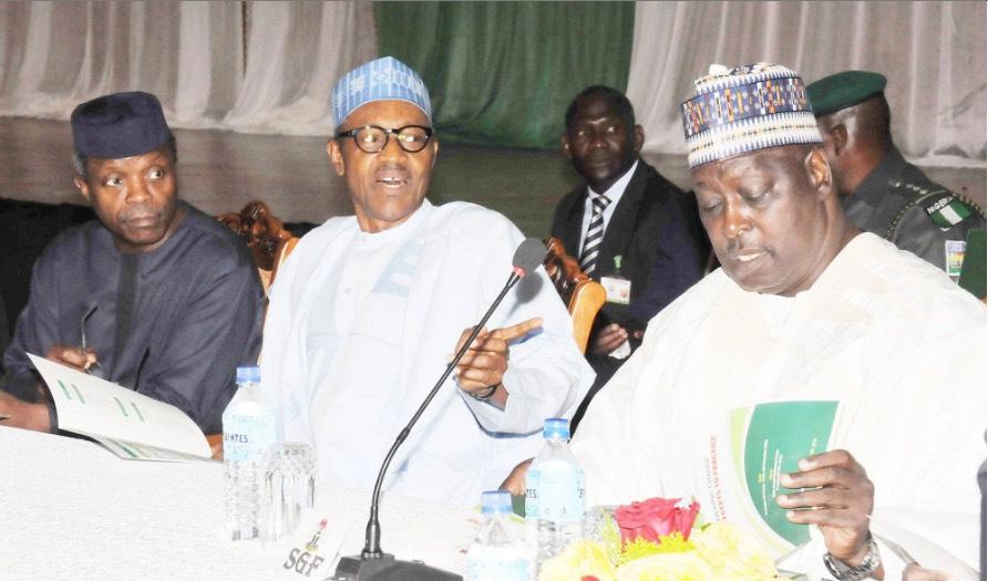 Babachir Lawal Muhammadu Buhari Yemi Osinbajo