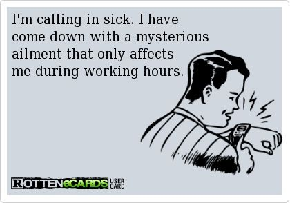 Calling Off Sick Work
