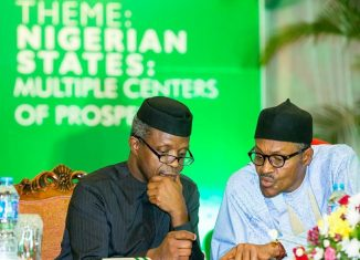 President Muhammadu Buhari (right) and Vice President Yemi Osinbajo