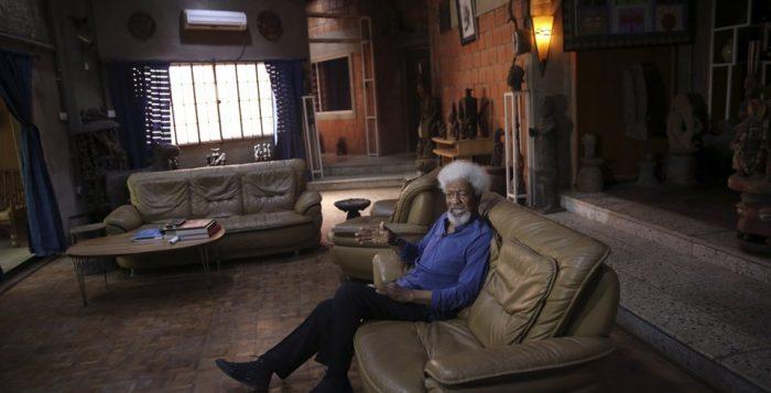 Wole Soyinka pictured his his home in Abeokuta, Ogun State, Nigeria | Akintunde Akinleye / Reuters