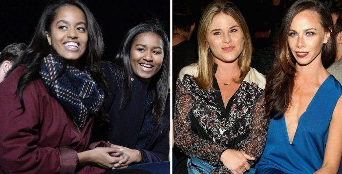 The Obama daughters (left), The Bush Daughters