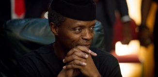 Road Vice President of Nigeria, Professor Yemi Osinbajo CAN