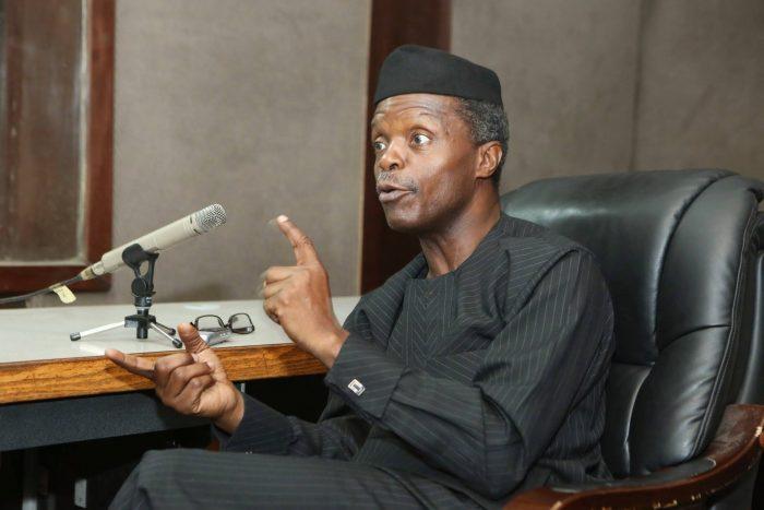 #IAMANIGERIAN, budget Buhari jollof rice NIA Niger Delta NCAA Vice President of Nigeria, Professor Yemi Osinbajo   State House Photo