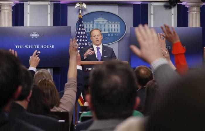 White House Press secretary Sean Spicer Donald Trump