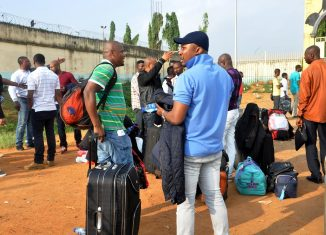 libya nigerian File: Germany Nigerians deported speaking with journalists