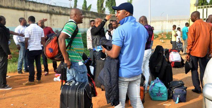libya nigerian File: Germany Nigerians deported speaking with journalists