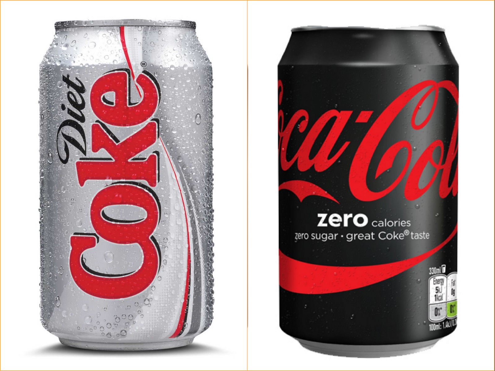 What's The Difference Between Diet Coke vs. Coca-Cola Zero ...