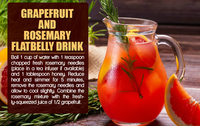Grapefruit & Rosemary Flat Belly Drink