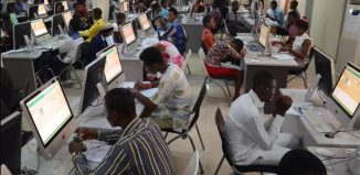 Students in a JAMB centre