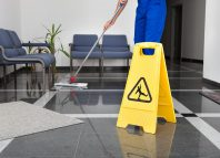 cleaning office building large space