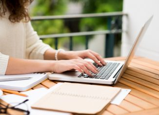 important essay laptop writting woman