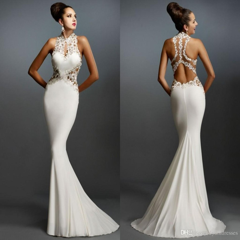 evening gown Mermaid-Evening-Dresses-Sleeveless-Appliques-Elegant ...